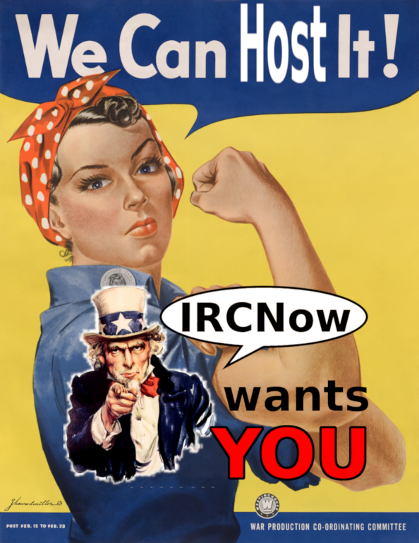 IRCNow wants YOU to host it!